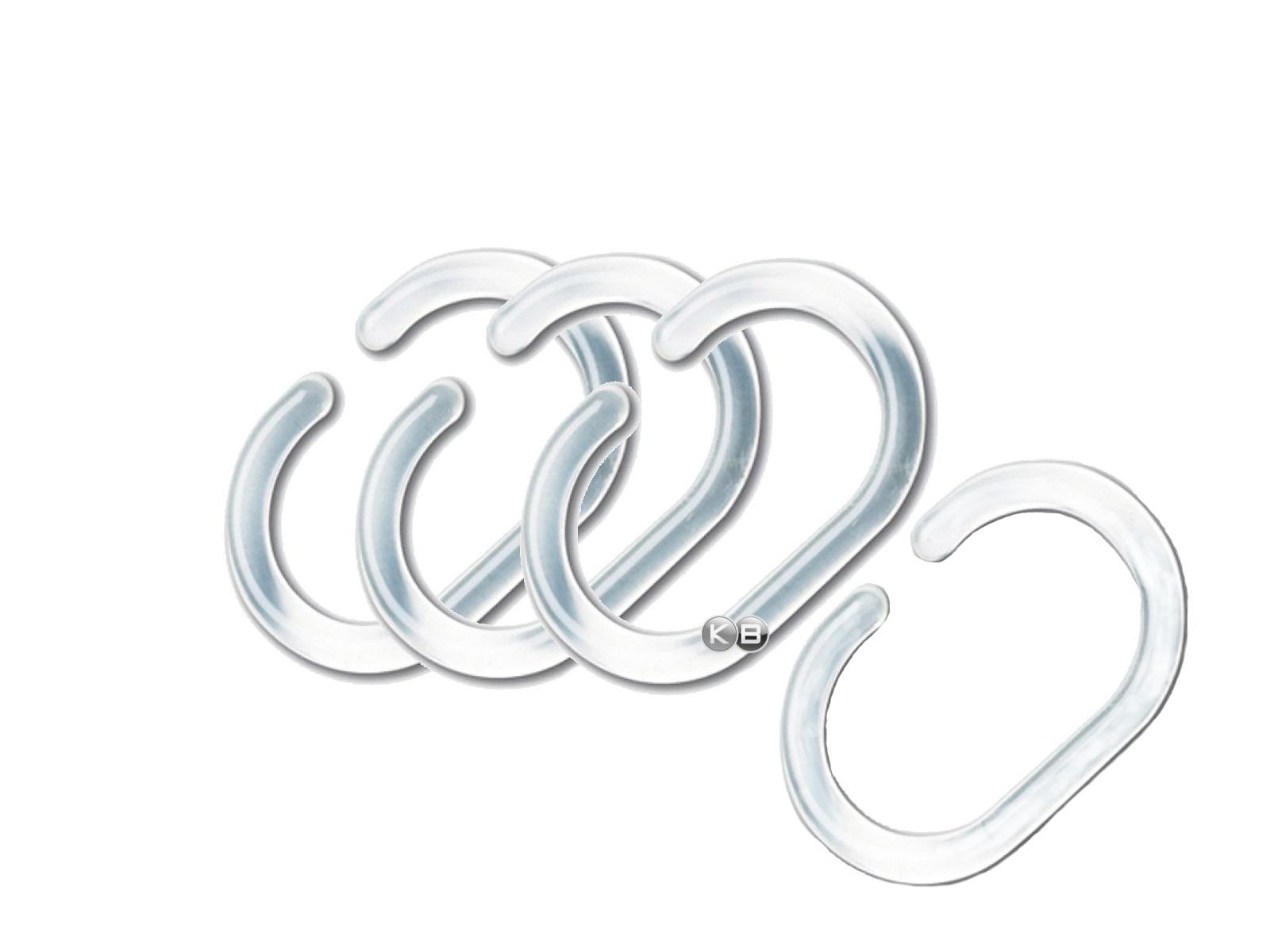 oval c ringe duschvorhangringe f r duschvorhang haken ring se transparent top ebay. Black Bedroom Furniture Sets. Home Design Ideas